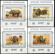 CENTRAL AFRICA CAR 1983 Rhinoceroses, WWF, Fauna MNH - Central African Republic