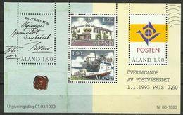 Aland - 1993 Postal Administration S/sheet  MNH **   Sc 72 - Aland