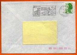07 JOYEUSE   SES FESTIVITES  1990 Lettre Entière N° EE 188 - Postmark Collection (Covers)