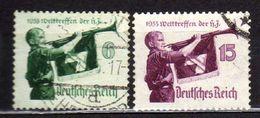 Deutsches Reich, 1935, Mi 584-585 Y/X Welttreffen Der Hitler-Jugend, Gestempelt [020717XIX] - Deutschland