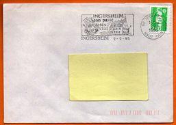 68 INGERSHEIM   SES VINS  1995 Lettre Entière N° EE 200 - Storia Postale