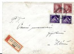 16-30 -  Enveloppe Recommandée Envoyée De Böhmen Mähren 1945 - Timbres Occupation Allemande - WW2