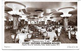 4157m: AK Lyons Oxford Corner House, London, Beschriftet Aber Ungelaufen,1939 - Hotels & Restaurants