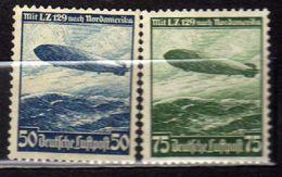 Deutsches Reich, 1936, Mi 606-607 Y (*), Zepplein L.Z. 129 Nach Nordamerika (Flugpost / Air Mail) [280217L] - Deutschland
