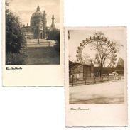 4157r: AKs Karlskirchen Und Riesenrad, Ungelaufen, Ca. 1940 - Prater