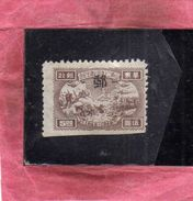 EAST CHINA CINA ORIENTALE 1949 TRANSPORTATION AND TOWER 5$ NG - Oost-China 1949-50