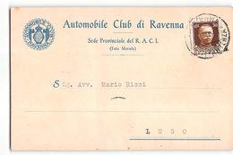 B742 AUTOMOBILE CLUB RAVENNA X LUGO - Marcophilie