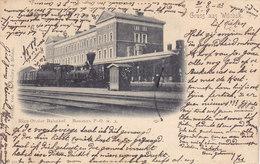 Gruss Aus Witebsk - Riga-Oreler Bahnhof (locomotive, Train, Animation, 1903) - Belarus