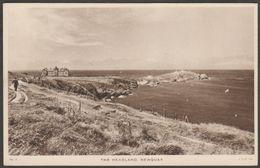 The Headland, Newquay, Cornwall, C.1940s - Tuck Postcard - Newquay