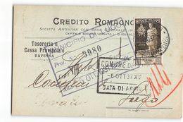 B759 CREDITO ROMAGNOLO RAVENNA X LUGO - Marcophilie