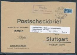 Zonen-Postscheck Brief ...... - ( Ze5600  ) Siehe Scan - Deutschland