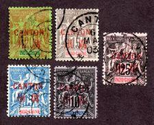 Canton N°6 à 10 Oblitéré TB  Cote 68 Euros !!!Rare ! - Canton (1901-1922)