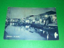 Cartolina Cesenatico - Il Canale 1958 - Rimini