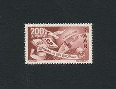 SAAR SARRE 1950 Aufnahme In Der Europarat / Adhésion Conseil De L'Europe Yv. PA 13 ** Neuf Sans Charnière MNH Cote 260&e - Posta Aerea