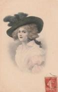 Illustrateur - NN 15611 - Femme élégante Au Chapeau - Künstlerkarten