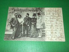 Cartolina Lirica Opera Il Maestro R. Leoncavallo E Gli Esecutori Della Zazà 1901 - Cartoline