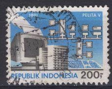 Indonésie Indonesia  - 1991 -  Oblitéré - Pelita 5 - Computer Ordinateur - Indonésie