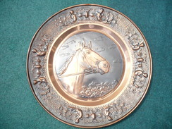 Wandteller Mit Pferdekopf - Kupferblech (466) - Kupfer