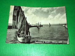 Cartolina Miramare Di Rimini - Ritorno Dalla Pesca 1956 - Rimini