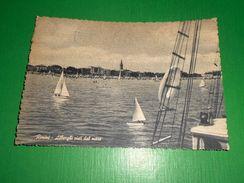 Cartolina Rimini - Alberghi Visti Dal Mare 1954 - Rimini