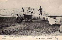 Védrines Partant En Reconnaissance Sur Son Appareil 'La Vache' 1914  -  CPA - Flieger