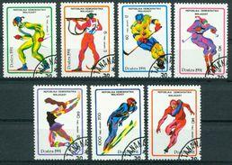 BM Madagaskar 1991 | MiNr 1338-1344 | Used | Olympische Winterspiele, Albertville - Madagascar (1960-...)