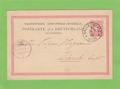 GS VON HALLE(SAALE)  NACH ZURICH,1883. - Deutschland