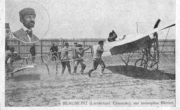 Beaumont (Lieutenant Conneau) Sur Monoplan Blériot   -  CPA - Aviadores