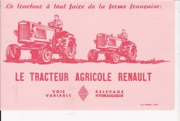 BUVARD LE TRATEUR AGRICOLE  RENAUT - Agriculture