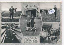 CPM GF - 68 - Munster - Multivues Chez Les Marcaires De La Vallée - Munster