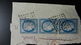 GC 4169 VESOUL ( Hte Saone 69 ) Sur YT N° 60 - 1849-1876: Classic Period