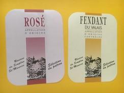 4339 - Réserve Du Simplon Saint-Maurice Valais Suisse Fendant & Rosé 2 étiquettes - Etiquettes