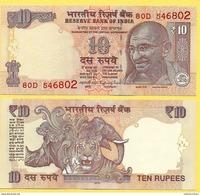 India 10 Rupees P-102 2016 Letter L UNC - India