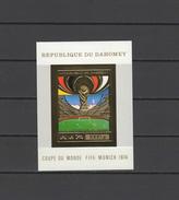 Dahomey 1974 Football Soccer World Cup Gold S/s Imperf. MNH -scarce- - Coppa Del Mondo