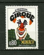"MONACO  1975    N° 1039  "" IIème Festival Int.du Cirque De Monaco ( Clown ) ""      NEUF - Monaco"