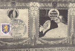 4014 Carte Postale Oblitération Illustrée Châsse Ste Bernadette Nevers Lourdes 13 12 1969 90 ° Anniversaire De La Mort - Christianisme