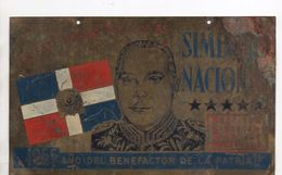Rafael Trujillo. Plaque De Propagande En Cuivre.1955.  Tres Rare. - Dominicaine (République)
