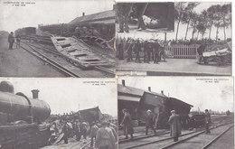 Kontich Contich - Spoorweg Ongeluk Accident Chemin De Fer (serie De 6 Cartes, Animation, 1908) - Kontich