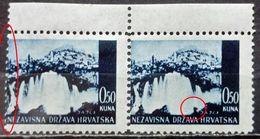 LANDSCAPES-JAJCE 0.50 K-PAIR-ERROR-KNAPSACK-MISPLACED PERF-NDH-CROATIA-1941 - Croatia