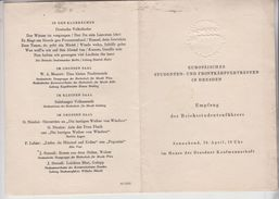 Germania Dresda -Dresden 1942 Europaisches Studenten Und Frontkampfertreffen Bach Lirica Mozart  Ss Gg - Documenti Storici