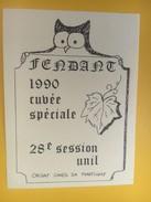 4355 - Fendant 1990 28e Session Unil Valais Suisse - Etiquettes