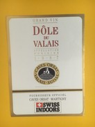 4359 -  Dôle Du Valais 1987 Suisse Caves Orsat Fournisseur Officiel De Swiss Indoors Tennis - Etiquettes