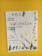 4363 - Rosé De Valencia  Pour Les Amis De L'Opéra Et Du Belcanto Opernhaus Zürich - Musique