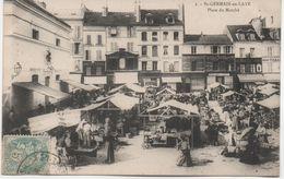 SAINT GERMAIN  EN LAYE   PLACE DU MARCHE  BELLE ANIMATION - St. Germain En Laye
