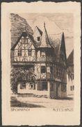 Radierung, Altes Haus, Bacharach, C.1920s - Franz Jander AK - Bacharach