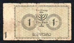 1 Mark Pologne Allemagne Juif Gettho Lodz - Pologne