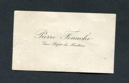 Carte De Visite Du Sous-préfet De La Manche Pierre Fouache - Sous-préfecture De Mortain - Normandie - Visiting Cards