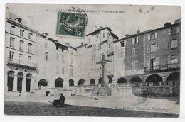 VILLEFRANCHE DE ROUERGUE EN 1911 - N° 14 - PLACE NOTRE DAME - CPA VOYAGEE - Villefranche De Rouergue