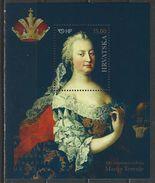 Croatia. Scott # 1038 MNH S/sheet. Empress Maria Theresa. Joint Issue With Austria,Hungary,Slovenia  2017 - Gemeinschaftsausgaben