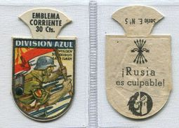 Emblema  De  LA  DIVISION AZUL   (  30ctms )-E5 - Oblaten, Glanzbilder